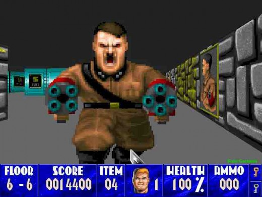 "Hitler in, ""Wolfenstein 3D."""