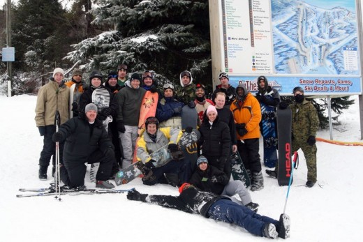 A Ski Navy Trip showing community involvement and awesome times. I fell in love with snowboarding back then.