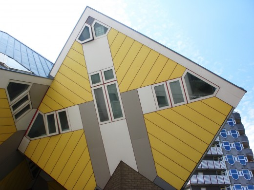 A Cube House in Rotterdam, The Netherlands