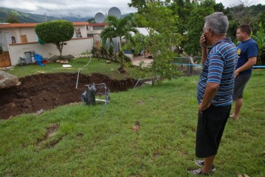 Aftermath of Hurricane Irene in Puerto Rico