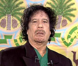Gaddafi in better days
