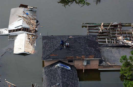 Aftermath of Hurricane Katrina in New Orleans