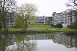Wolfson College from across the Cherwell River