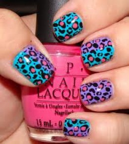 Leopard nail art! how cute;)