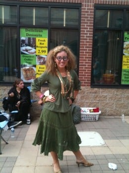 Homemade Trelawney costume seen at the Deathly Hallows, part two premiere.