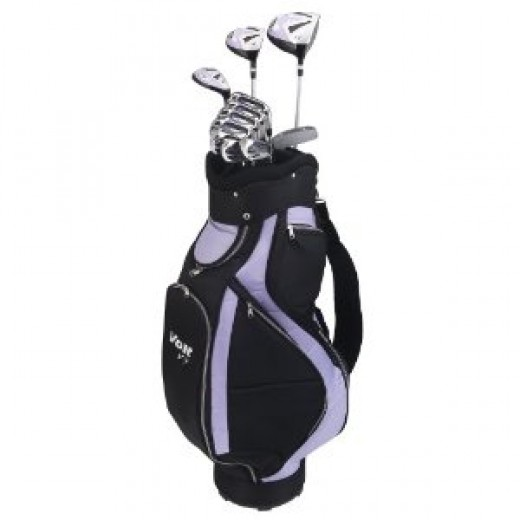 Voit V7 Ladies All Graphite Golf Club Set and Staff Bag.
