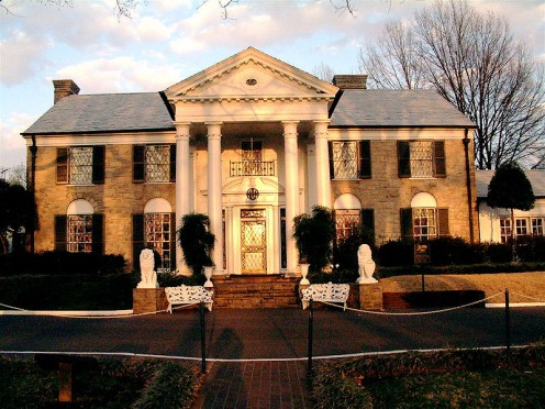 The Graceland Mansion, built in 1939, modified in 1957. Names a US Historic Place in 1991, and a US Historic Landmark in 2006.