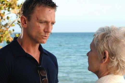 Daniel Craig with Judi Dench