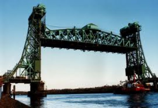 The Newport Lift Bridge  forms part of the A1032 between the A66 at Middlesbrough and A19 beyond Stockton on Tees