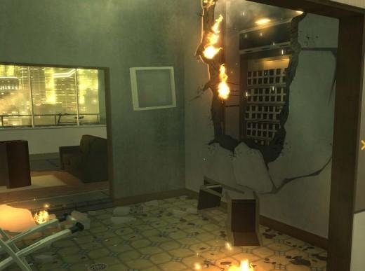 Deus Ex Human Revolution Hengsha Court Gardens Target Computer