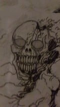 Skull Sketch with pencil and ink!
