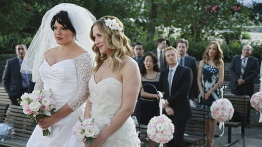 "A wedding helping to outweigh the tragedy on ""Grey's Anatomy."""