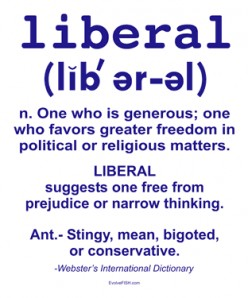What does Liberal means?