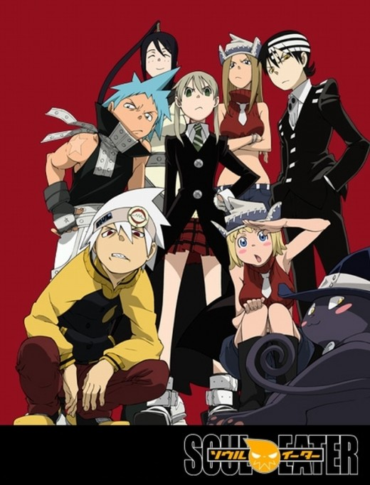 "The main cast of ""Soul Eater."""