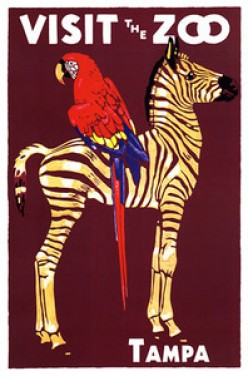 free cross stitch pattern zoo Zebra and Parrot