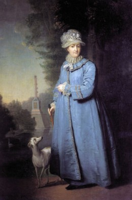 Catherine the Great with her Whippet