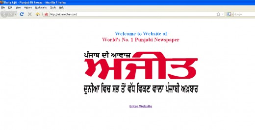 Ajit Jalandhar's Website Screenshot