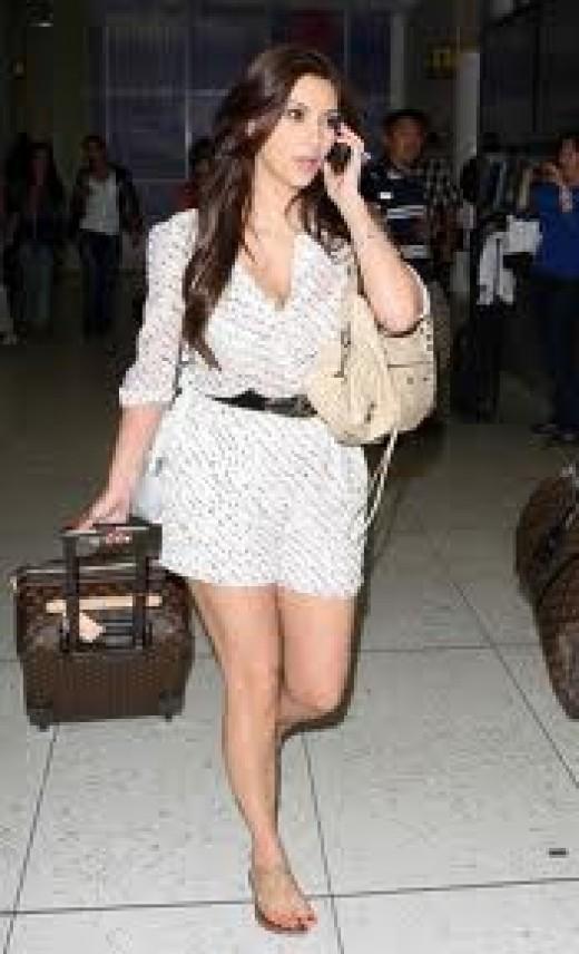 Kim Kardashian is traveling light!