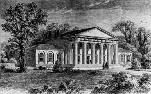 Sketch of Arlington House before 1861, but not published until 1875