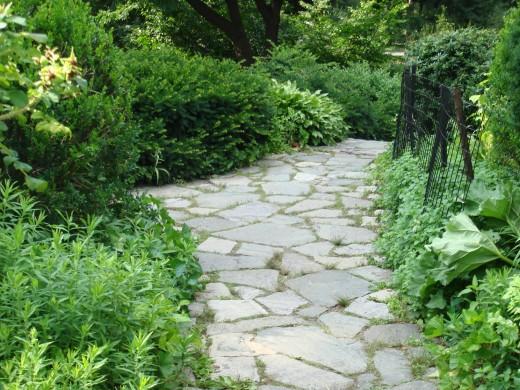 Walkways through Shakespeare Garden