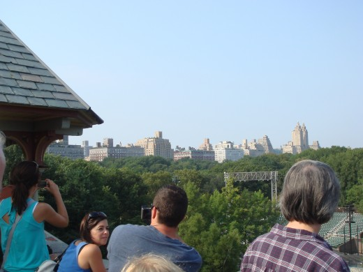 View of New York City from Belvedere Castle.
