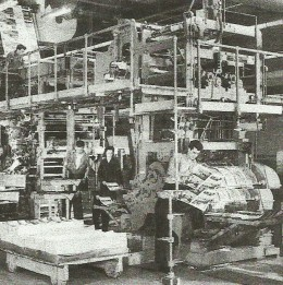 """A more """"modern"""" printing press of the 1960s in Buffalo, New York."""