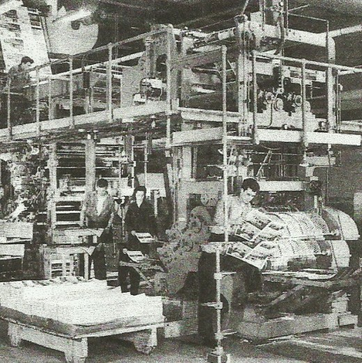 "A more ""modern"" printing press of the 1960s in Buffalo, New York."