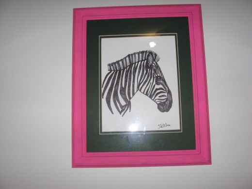 Practice making zebra stripes first, before applying them to toy boxes and other decor.