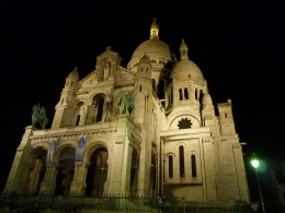 The Sacr-Coeur at night