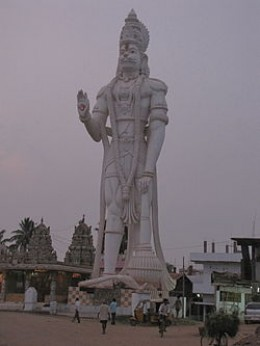 Believed to be the largest Bajrangvali Statue in the World located in Hyderabad, India: Source: Wikipedia