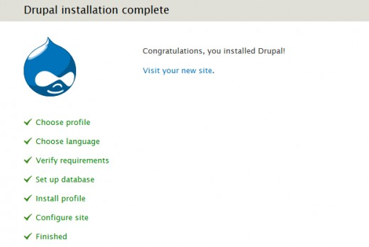 Install Drupal - Completion of Drupal installation