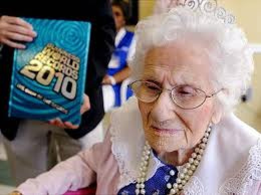 Besse Cooper pictured at  her 115th birthday on Friday
