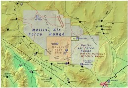 The nuclear test site in Southern Nevada.