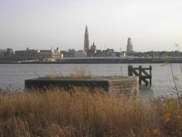 The Scheldt river at Antwerp
