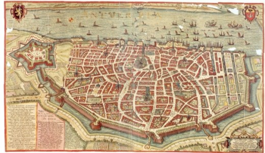Map of Antwerp, around 1598