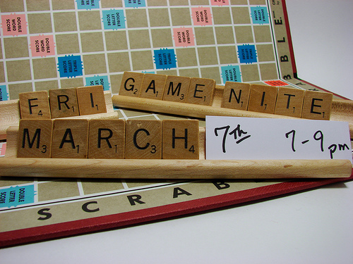 That old favourite Scrabble ... but beware, it can get pretty stressful playing with some people.