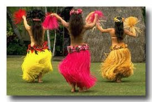 Hawaiian hula dancers!