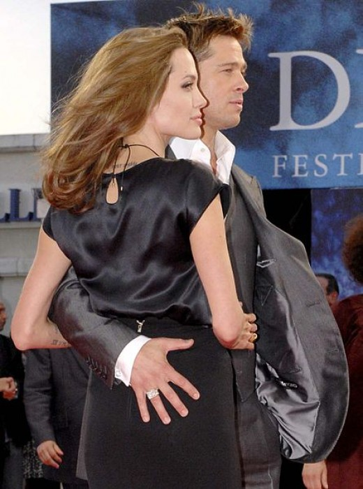 Actress Angelina Jolie and Actor Brad Pitt