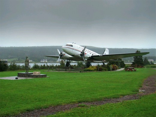 Monument to Amelia Earhart at Harbour Grace, Newfoundland and Labrador