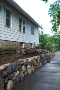 What is a retaining wall?