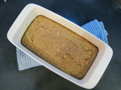 This garbanzo flour banana bread was a homerun!