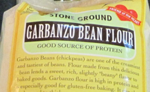 Garbanzo bean flour is high in protein.