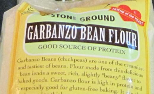 Garbanzo bean flour is high in protein.