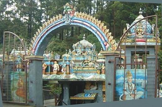 A temple to Hanuman near Nuwara Eliya  in Sri Lanka