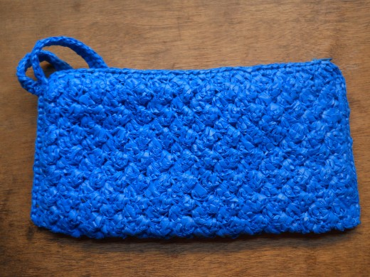 Royal Blue Ripple Purse
