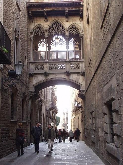 Barri Gotic - the old Gothic Quarter of Barcelona.