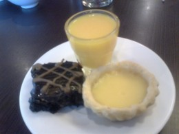 Mango pudding, egg tart , brownies
