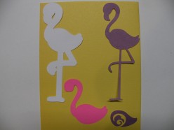 Four shapes to cut out for the flamingo