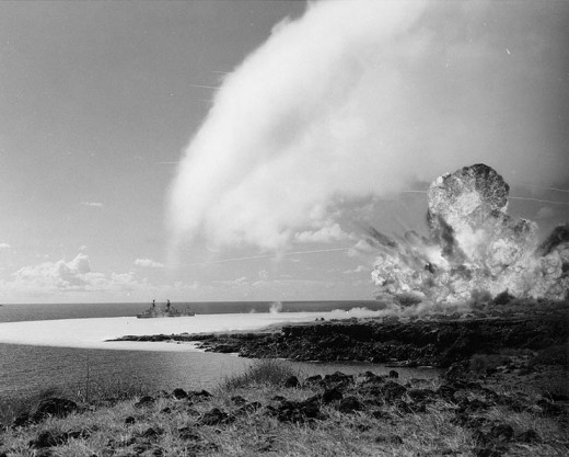 Detonation of a 500-ton TNT explosive