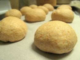 Risen dough balls.